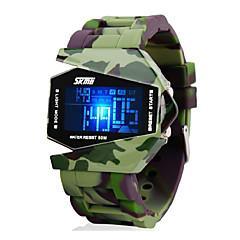 Χαμηλού Κόστους Στρατιωτικό Ρολόι-SKMEI Ανδρικά Στρατιωτικό Ρολόι Ρολόι Καρπού Ψηφιακό ρολόι Ψηφιακό LED LCD Ημερολόγιο Χρονογράφος Ανθεκτικό στο Νερό συναγερμού σιλικόνη