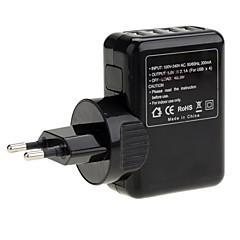 נסיעות אוניברסלית 4 יציאות USB-Port מתח AC מטען מתאם