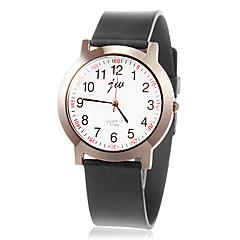 preiswerte Tolle Angebote auf Uhren-Damen Armbanduhren für den Alltag Quartz Band Retro Schwarz - Weiß Schwarz
