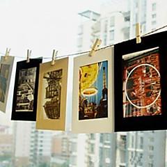 voordelige Kantoor artikelen-6 inch 10 pack landschap patroon opknoping papier fotolijst (zwart, wit, bruin)