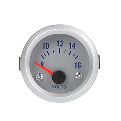 Spenning Meter Gauge Voltmeter for Auto Car to 52mm 8-16V oransje lys