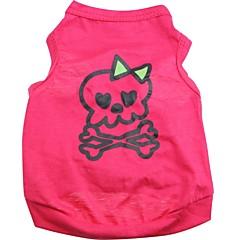 cheap Cat Apparel-Cat Dog Shirt / T-Shirt Dog Clothes Skull Rose Cotton Costume For Pets Men's Women's Cute Halloween