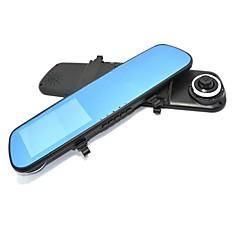 baratos Alarmes & Segurança-Espelhos Car DVR Camera Dual Lens tela de 4,3 polegadas 140 graus G-sensor de movimento Detecção Noite Vison
