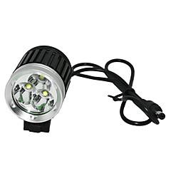 Linternas de Cabeza Luces para bicicleta Cree XM-L T6 Ciclismo Recargable Control de Ángulo 18650.0 2400-3000 Lumens Cargador AC Batería