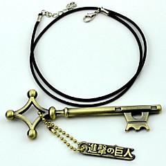 Więcej akcesoriów Zainspirowany przez Attack on Titan Eren Jager Anime Akcesoria do Cosplay Łańcuszek do kluczy Złoty Slitina Męskie