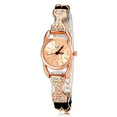 preiswerte Tolle Angebote auf Uhren-Damen Armbanduhren für den Alltag Armband-Uhr Simulierter Diamant Uhr Quartz Schwarz / Weiß / Lila Imitation Diamant Analog damas Elegant - Schwarz Purpur Rose