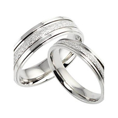 Women's Couple Rings Band Rings Love Bridal Titanium Steel Circle Jewelry For Wedding Party Gift Daily Casual Valentine