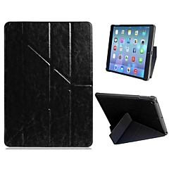 Doskonała jakość Quad-krotnie Faux Leather Flip Etui z podstawką do iPad Air (różne kolory)