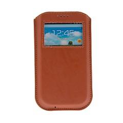 Недорогие Универсальные чехлы и сумочки-Кейс для Назначение SSamsung Galaxy Чехол Кожа PU для S4 S3