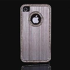 роскошный матовый алюминий шику кристалл алмаза металл жесткий футляр для iPhone 4/4S (разные цвета)