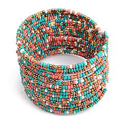 preiswerte Armbänder-Damen Armreife - Einzigartiges Design, Böhmische, Modisch Armbänder Weiß / Blau / Rosa-Blau Für Weihnachts Geschenke / Sport