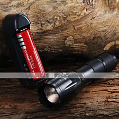 preiswerte Taschenlampen-1600 lm lm LED Taschenlampen LED 3 Modus Zoomable- / einstellbarer Fokus