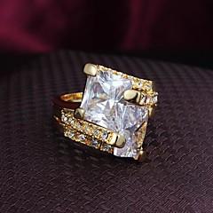 preiswerte Ringe-Damen Bandring - Kupfer, vergoldet, 18K Gold Modisch 6 / 7 / 8 Silber / Golden Für Alltag Normal / Kubikzirkonia