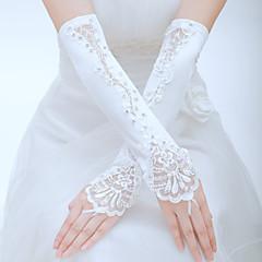 abordables Bijoux pour Femme-Polyester / Tulle Longueur Coude Gant Classique / Gants de Mariée / Gants de Fête / Soirée Avec Couleur Unie