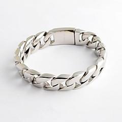 Męskie Bransoletki i łańcuszki na rękę Stal nierdzewna Unikalny minimalistyczny styl Modny Biżuteria Silver Biżuteria 1szt