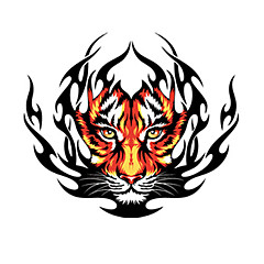 preiswerte Auto Aufkleber-Feuer-Tiger-Muster Dekorative Auto-Aufkleber
