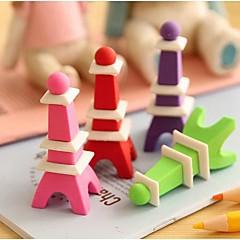 에펠 탑 모양의 이동식 지우개 (색상 랜덤)