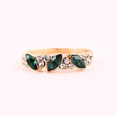 preiswerte Ringe-Damen Smaragd / Synthetischer Smaragd Strass / Diamantimitate / Aleación Bandring - Ring Für Alltag / Normal