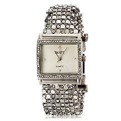 お買い得  大特価腕時計-ASJ 女性用 ブレスレットウォッチ 日本産 模造ダイヤモンド ステンレス バンド カジュアル / エレガント シルバー / 1年間 / SSUO SR626SW
