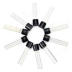30V NPN三極管パワートランジスタパッケージトランジスタ - ブラック(10 PCS)