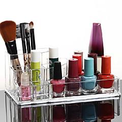 Make-up opbergsysteem Make-updoos / Make-up opbergsysteem Kunststof / Acryl Effen 17x10x6.5 Oranjegeel