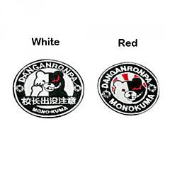 Rozet Esinlenen Dangan Ronpa Monokuma Anime / Video Oyunları Cosplay Aksesuarları Rozet Beyaz / Siyah / Kırmızı Polyester Erkek