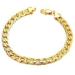 Недорогие Браслеты-Классическая мода Copper покрытие Мужчины 18 К Золотой браслет