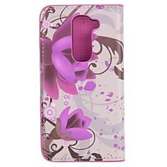 용 LG케이스 카드 홀더 / 스탠드 / 플립 케이스 풀 바디 케이스 꽃장식 하드 인조 가죽 LG LG G2 mini