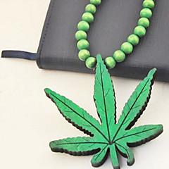 preiswerte Halsketten-Mode Marihuanablatt mehrfarbigen Holz Halskette (1 PC) (mehr Farbe)