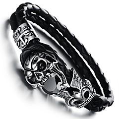 preiswerte Armbänder-Retro Teufel Skull Rock Herren Charm Edelstahl-Armband (1 St.)