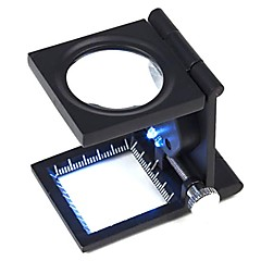 abordables Microscopios y Lupas-ZW-9005A Portable Comprobación Lupa plegable 10X Tela