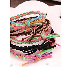 Color del encanto de la mano tejido elástico Collision Coincidencia Bandas pulsera de cuerda de pelo (color al azar)