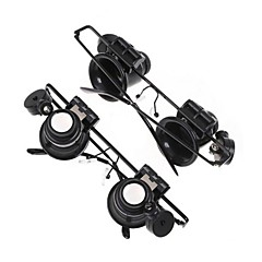 ZW-9882-2A Gafas Tipo 20X Lupa con luz LED blanco (4 x CR1620)