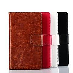 إلى نوكيا حالة محفظة / حامل البطاقات / مع حامل غطاء كامل الجسم غطاء لون صلب قاسي جلد اصطناعي Nokia Nokia Lumia 520