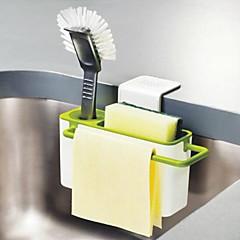 お買い得  キッチン収納-キッチンブラシスポンジハンガー乾燥ラックシンク排水タオルホルダーサクションカップ