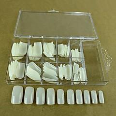 billige søm spids-10x10pcs Mixs størrelse naturlig fuld nail art tips