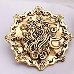 halpa Rintakorut-Euroopan laulu Tulen ja jään 4cm unisex metalliseos rintakoruja (pronssi, kulta, musta) (1 kpl)