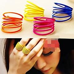 preiswerte Ringe-Damen Mehrschichtig Bandring - Aleación Personalisiert, nette Art, Mehrlagig 7 Gelb / Rose / Blau Für Party / Alltag / Normal