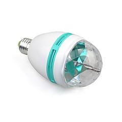 e27 cor total 3W RGB conduziu o projetor de cristal fase luz efeito discoteca bola mágica festa dj luz lâmpada (110-240V)