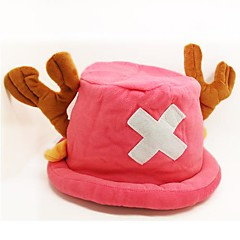 Hattu/lakki Innoittamana One Piece Tony Tony Chopper Anime Cosplay-Tarvikkeet Hat Pinkki Polar Fleece Uros / Naaras