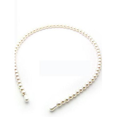 abordables Joyería para el Cabello-Perla Artificial Blanco