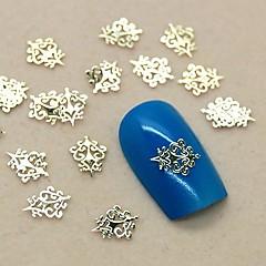200pcs de design regal de epocă din metal auriu decor felie unghii