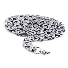 Недорогие Ожерелья-мода титана стали клип цепи ожерелье мужской