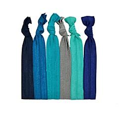 voordelige Haarsieraden-assorti kleur haar band en armband elastisch 6 op een kaart