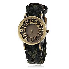 お買い得  大特価腕時計-女性用 リストウォッチ クォーツ ホット販売 PU バンド ハンズ ヴィンテージ ファッション ブラック / ブルー / レッド - レッド グリーン ブルー