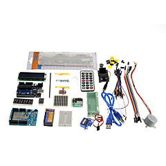 abordables Kits de Bricolaje-kt0001 R3 kit de aprendizaje Uno de arranque para las placas Arduino oficiales multicolor