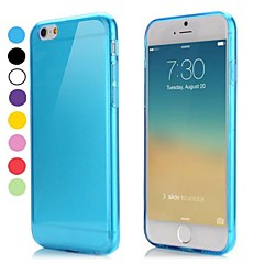 Para Funda iPhone 6 Funda iPhone 6 Plus Carcasa Funda Ultrafina Transparente Cubierta Trasera Funda Color sólido Suave TPU paraiPhone 6s