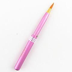 1db stretch többszínű fém strasszos díszített nylon haj ajak ecset (véletlenszerű szín)