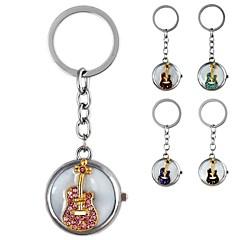preiswerte Damenuhren-Damen Uhr mit Schlüsselanhänger Simulierter Diamant Uhr Quartz Imitation Diamant Band Analog Kaffee Rosa Hellblau