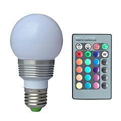 jiawen® e27 3w rgb led izzó fény távirányítóval (ac 100-220v)